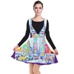 Time Square  Plunge Pinafore Dress