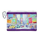 Time Square  Canvas Cosmetic Bag (Medium)