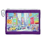 Time Square  Canvas Cosmetic Bag (XL)