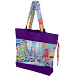 Time Square  Drawstring Tote Bag