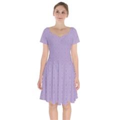 Simple Squares  Short Sleeve Bardot Dress by TimelessFashion