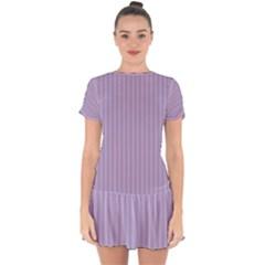 Simple Stripes  Drop Hem Mini Chiffon Dress by TimelessFashion