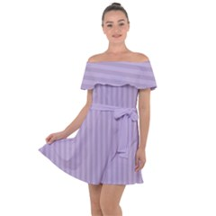 Simple Stripes  Off Shoulder Velour Dress by TimelessFashion