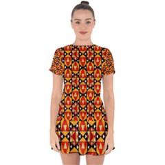 Grammer 4 Ml-8-1 Drop Hem Mini Chiffon Dress by ArtworkByPatrick