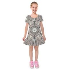 Digital Art Space Kids  Short Sleeve Velvet Dress