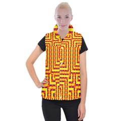 Digital Artwork Abstract Women s Button Up Vest