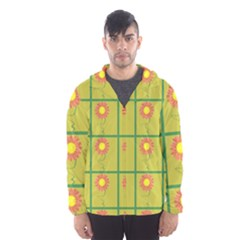 Sunflower Pattern Hooded Windbreaker (men) by Alisyart