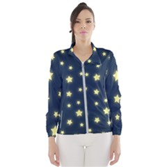 Stars Night Sky Background Windbreaker (women) by Alisyart