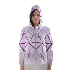 Spirograph Circle Geometric Hooded Windbreaker (women) by AnjaniArt