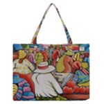 At The Shops  Zipper Medium Tote Bag