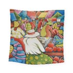 At The Shops  Square Tapestry (Small)