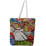 At The Shops  Full Print Rope Handle Tote (Large)