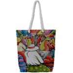 At The Shops  Full Print Rope Handle Tote (Small)