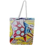 The Harvesters  Full Print Rope Handle Tote (Large)