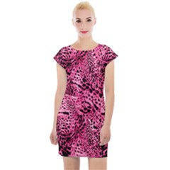 Luxury Animal Print Cap Sleeve Bodycon Dress by tarastyle