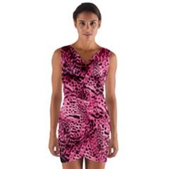 Luxury Animal Print Wrap Front Bodycon Dress by tarastyle