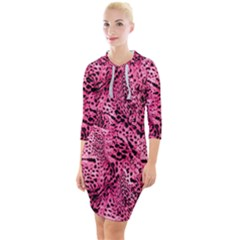 Luxury Animal Print Quarter Sleeve Hood Bodycon Dress by tarastyle