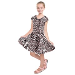 Luxury Animal Print Kids  Short Sleeve Dress by tarastyle