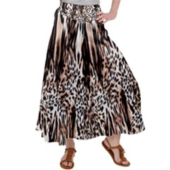 Luxury Animal Print Satin Palazzo Pants by tarastyle