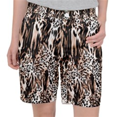Luxury Animal Print Pocket Shorts by tarastyle