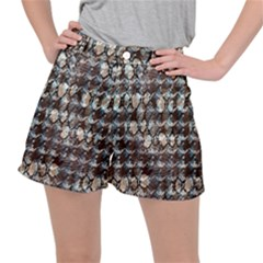 Luxury Animal Print Stretch Ripstop Shorts by tarastyle