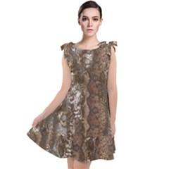 Luxury Animal Print Tie Up Tunic Dress by tarastyle