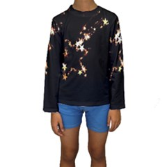 Shooting Star Kids  Long Sleeve Swimwear by WensdaiAddamns