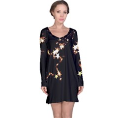 Shooting Star Long Sleeve Nightdress by WensdaiAddamns
