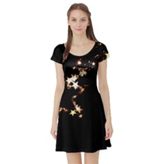 Shooting Star Short Sleeve Skater Dress by WensdaiAddamns
