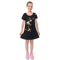 Shooting Star Kids  Short Sleeve Velvet Dress by WensdaiAddamns
