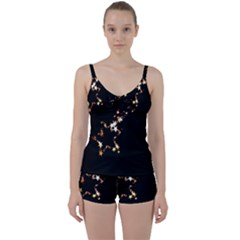 Shooting Star Tie Front Two Piece Tankini by WensdaiAddamns