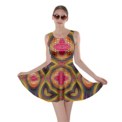 Kaleidoscope Art Pattern Ornament Skater Dress