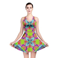 Farbenpracht Kaleidoscope Pattern Reversible Skater Dress