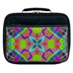 Farbenpracht Kaleidoscope Pattern Lunch Bag by Pakrebo