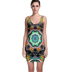 Fractal Chaos Symmetry Psychedelic Bodycon Dress