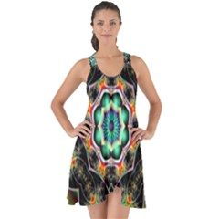 Fractal Chaos Symmetry Psychedelic Show Some Back Chiffon Dress by Pakrebo