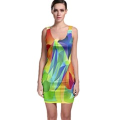 Modern Art Fractal Background Bodycon Dress