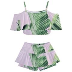 Banana Leaf Kids  Off Shoulder Skirt Bikini by goljakoff