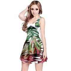 Tropical Leaves Reversible Sleeveless Dress by goljakoff