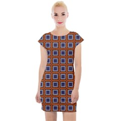 Tile Background Image Pattern Cap Sleeve Bodycon Dress