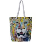 Lion  Full Print Rope Handle Tote (Small)