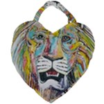 Lion  Giant Heart Shaped Tote