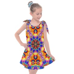 Image Fractal Background Image Kids  Tie Up Tunic Dress by Pakrebo