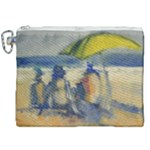 At the Beach  Canvas Cosmetic Bag (XXL)