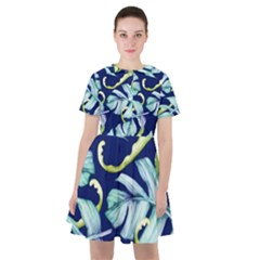 Fancy Tropical Pattern Sailor Dress by tarastyle