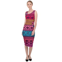 Fancy Colorful Mexico Inspired Pattern Sleeveless Pencil Dress by tarastyle
