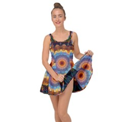 Colorful Prismatic Chromatic Inside Out Casual Dress by Pakrebo