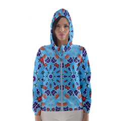 Farbenpracht Kaleidoscope Hooded Windbreaker (women) by Pakrebo