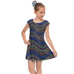 Decorative Ornamental Abstract Kids  Cap Sleeve Dress