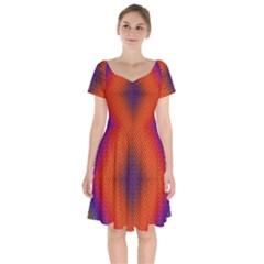 Background Fractals Surreal Design Short Sleeve Bardot Dress by Pakrebo